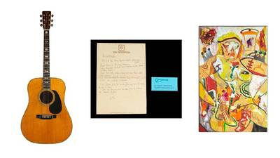 Memorabilia from Eric Clapton, Robert Plant, Bob Dylan & more being auctioned in NYC next month