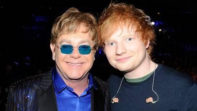 "Elton John says ""big mouth"" Ed Sheeran jumped the gun on their joint Christmas single"
